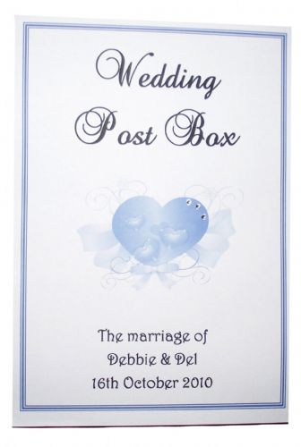 Post Box Label / Card - Elegant Heart Design